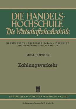 Abbildung von Mellerowicz | Zahlungsverkehr | 1952