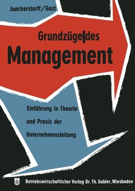 Grundzüge des Management | Junckerstorff, 1960 | Buch (Cover)