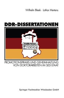 Abbildung von Mertens | DDR-Dissertationen | 1994 | Promotionspraxis und Geheimhal...