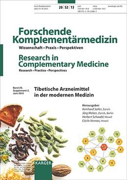 Abbildung von Saller / Melzer / Schwabl / Vennos   Tibetische Arzneimittel in der modernen Medizin   2013   Supplementheft: Forschende Kom...