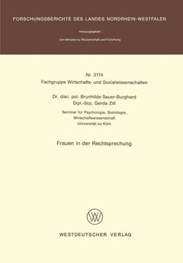 Abbildung von Sauer-Burghard | Frauen in der Rechtsprechung | 1. Auflage | 1984 | beck-shop.de