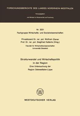 Abbildung von Elsner / Katterle   Strukturwandel und Wirtschaftspolitik in der Region   1. Auflage   1989   3231   beck-shop.de