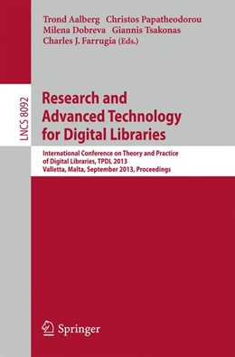 Abbildung von Aalberg / Papatheodorou / Dobreva / Tsakonas / Farrugia | Research and Advanced Technology for Digital Libraries | 2013 | International Conference on Th...