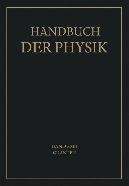 Quanten | Bothe / Geiger / Scheel, 1926 | Buch (Cover)