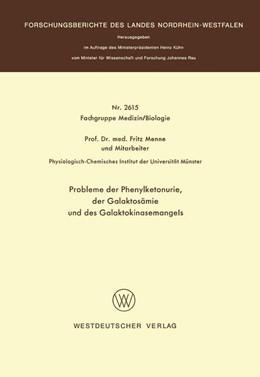 Abbildung von Menne | Probleme der Phenylketonurie, der Galaktosämie und des Galaktokinasemangels | 1977