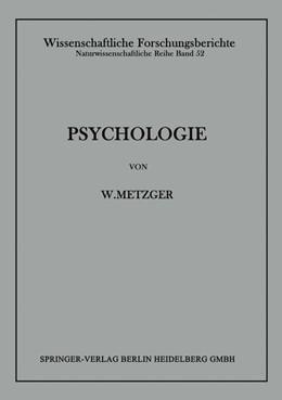 Abbildung von Metzger | Psychologie | 1941 | Die Entwicklung ihrer Grundann... | 52