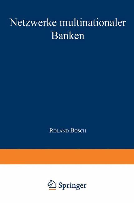 Netzwerke multinationaler Banken   Bosch, 2000   Buch (Cover)