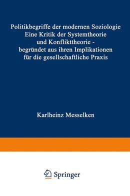 Abbildung von Messelken | Politikbegriffe der modernen Soziologie | 2. Auflage | 1970 | beck-shop.de