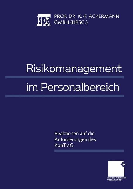 Risikomanagement im Personalbereich | Ackermann | 1999, 1999 | Buch (Cover)
