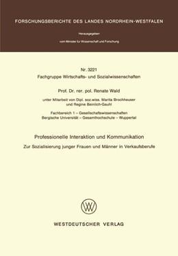 Abbildung von Wald | Professionelle Interaktion und Kommunikation | 1. Auflage | 1987 | beck-shop.de