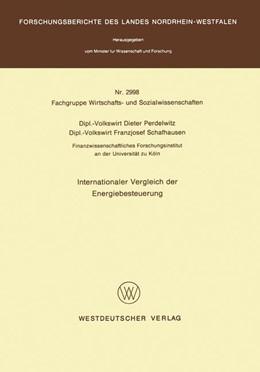 Abbildung von Perdelwitz | Internationaler Vergleich der Energiebesteuerung | 1. Auflage | 1980 | beck-shop.de