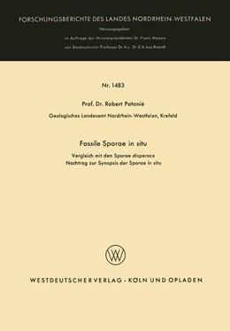 Abbildung von Potonié | Fossile Sporae in situ | 1965 | Vergleich mit der Sporae dispe... | 1483