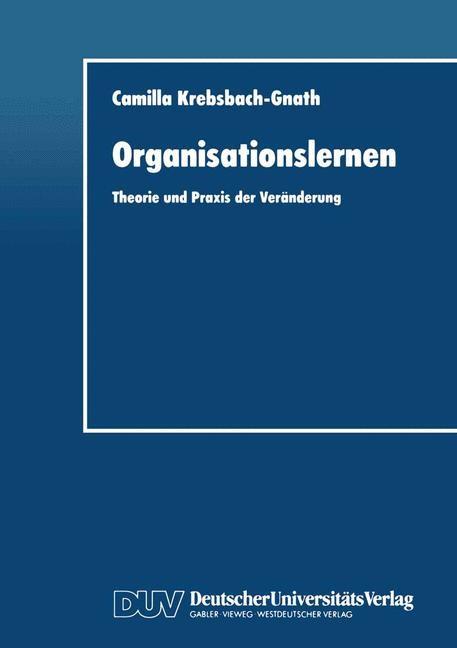 Organisationslernen | Krebsbach-Gnath, 1996 | Buch (Cover)