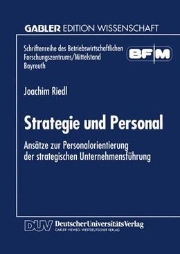Abbildung von Strategie und Personal | 1995 | Ansätze zur Personalorientieru...