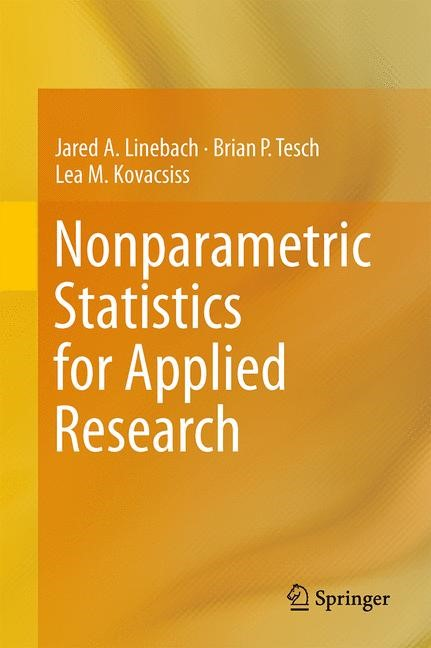 Nonparametric Statistics for Applied Research | Linebach / Tesch / Kovacsiss, 2013 | Buch (Cover)