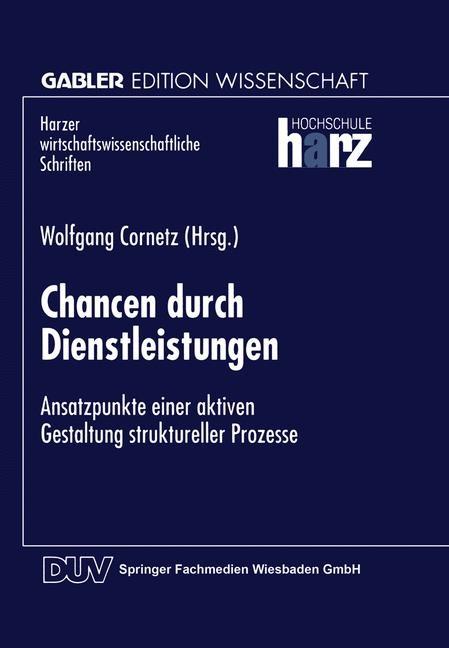 Chancen durch Dienstleistungen, 1998   Buch (Cover)