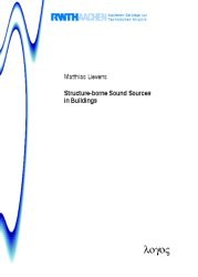 Structure-borne Sound Sources in Buildings | Lievens, 2013 | Buch (Cover)