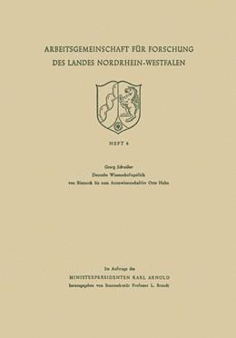 Abbildung von Schreiber | Deutsche Wissenschaftspolitik von Bismarck bis zum Atomwissenschaftler Otto Hahn | 1954 | 4