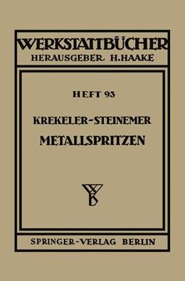 Abbildung von Krekeler / Steinemer | Metallspritzen | 1952 | 93