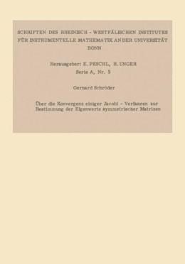 Abbildung von Schröder | Über die Konvergenz einiger Jacobi-Verfahren zur Bestimmung der Eigenwerte symmetrischer Matrizen | 1964