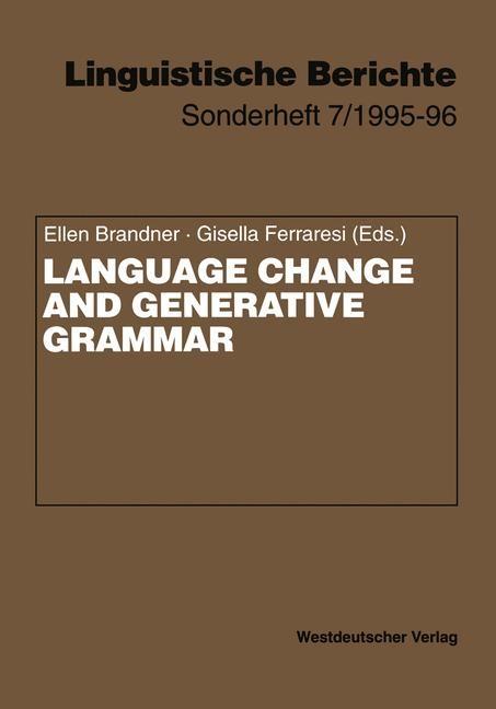 Language Change and Generative Grammar | Brandner / Ferraresi, 1996 | Buch (Cover)