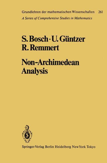 Abbildung von Bosch / Güntzer / Remmert | Non-Archimedean Analysis | 2012