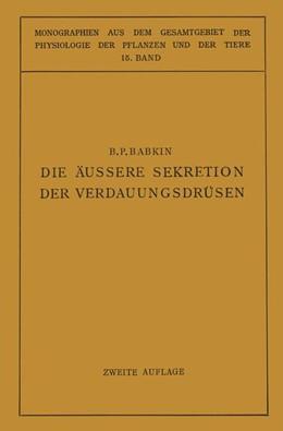 Abbildung von Gildmeister / Goldschmidt / Neuberg / Parnas / Ruhland   Die Äussere Sekretion der Verdauungsdrüsen   1928   15