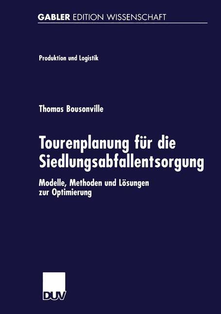 Tourenplanung für die Siedlungsabfallentsorgung   Bousonville, 2002   Buch (Cover)