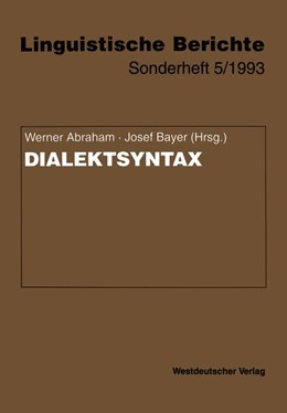 Abbildung von Abraham / Bayer | Dialektsyntax | 1993 | 5