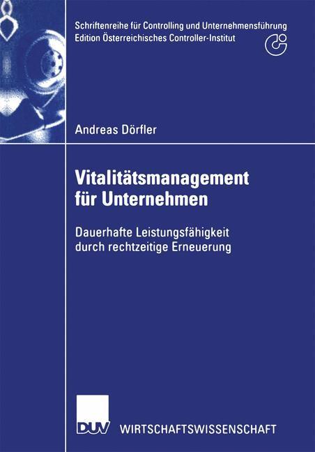 Vitalitätsmanagement für Unternehmen | Dörfler, 2002 | Buch (Cover)
