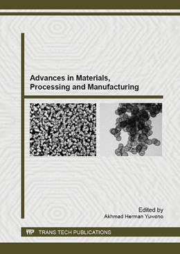 Abbildung von Yuwono | Advances in Materials, Processing and Manufacturing | 2013 | Selected, peer reviewed papers... | Volume 789