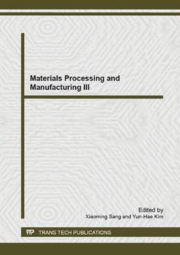 Abbildung von Sang / Kim | Materials Processing and Manufacturing III | 2013 | Selected, peer reviewed papers... | Volumes 753-755