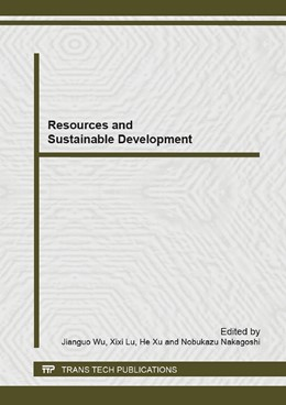 Abbildung von Wu / Lu / Xu / Nakagoshi   Resources and Sustainable Development   2013   Selected, peer reviewed papers...   Volumes 734-737