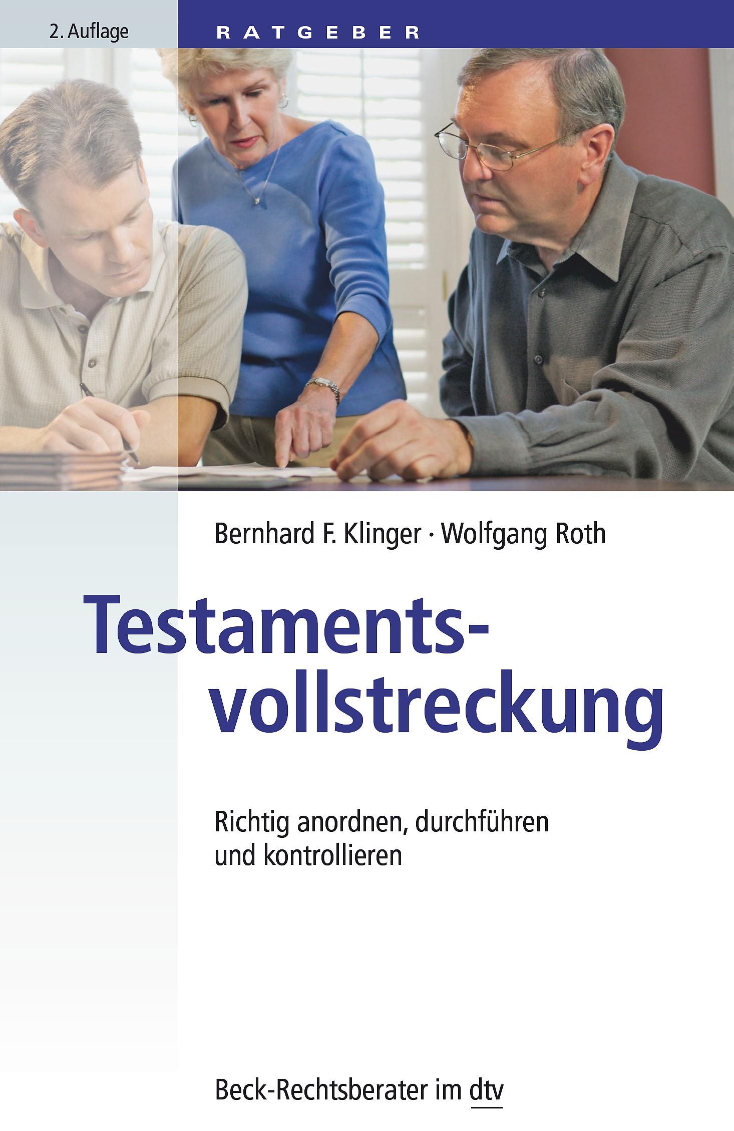 Testamentsvollstreckung | Klinger / Roth | 2. Auflage, 2014 | Buch (Cover)