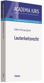 Lauterkeitsrecht | Jänich, 2018 | Buch (Cover)