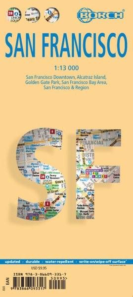 San Francisco 1 : 13 000   Neuauflage, 2018 (Cover)