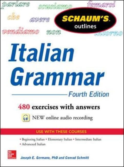 Schaum's Outline of Italian Grammar | Germano / Schmitt | 4th Edition, 2014 | Buch (Cover)