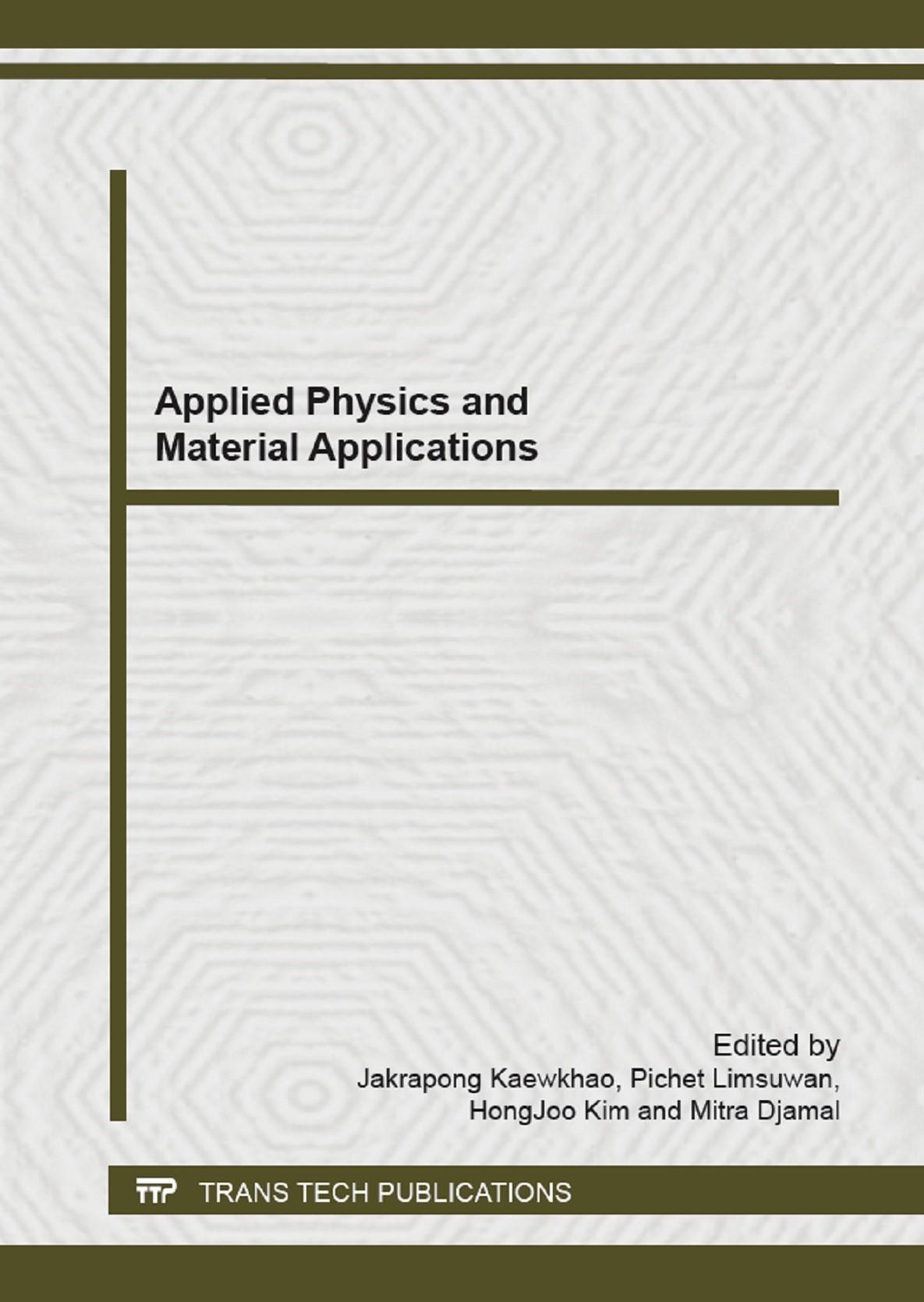Applied Physics and Material Applications | Kaewkhao / Limsuwan / Kim / Djamal, 2013 | Buch (Cover)