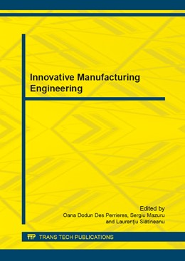Abbildung von Des Perrieres / Mazuru | Innovative Manufacturing Engineering | 1. Auflage | 2013 | Volume 371 | beck-shop.de