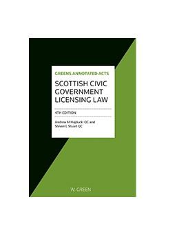 Abbildung von Hadjucki / Stuart | Scottish Civic Government Licensing Law | 1. Auflage | 2016 | beck-shop.de