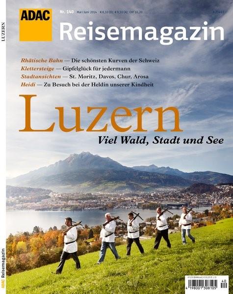 ADAC Reisemagazin Luzern und Vierwaldstätter See, 2014   Buch (Cover)