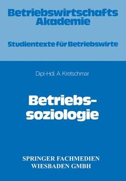 Abbildung von Kretschmar | Betriebssoziologie | 1983 | 1983