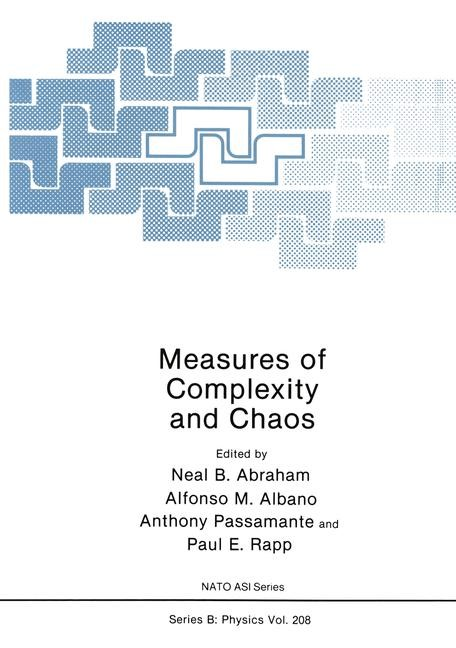 Measures of Complexity and Chaos | Abraham / Albano / Passamante / Rapp, 2012 | Buch (Cover)