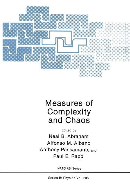 Abbildung von Abraham / Albano / Passamante / Rapp | Measures of Complexity and Chaos | 2012