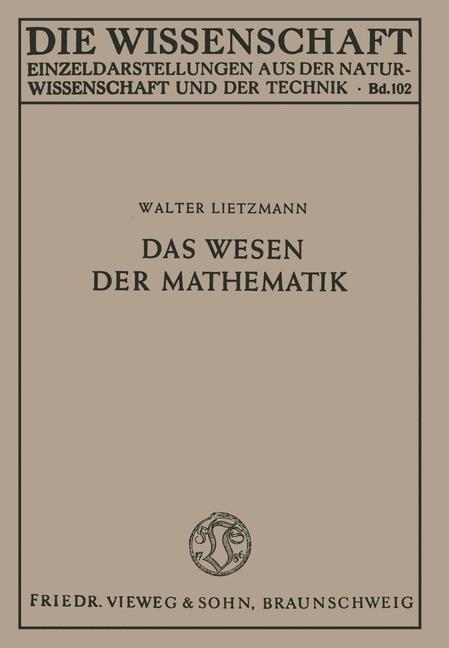 Das Wesen der Mathematik | Lietzmann, 1949 | Buch (Cover)