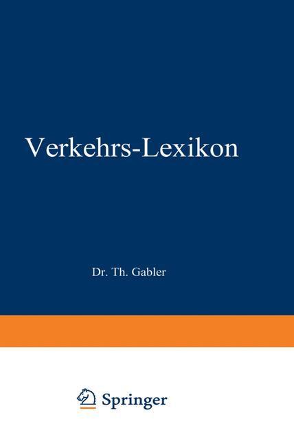Dr. Gablers Verkehrs-Lexikon | Linden, 1966 | Buch (Cover)