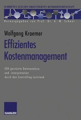 Abbildung von Kraemer | Effizientes Kostenmanagement | 2012 | EDV-gestützte Datenanalyse und...