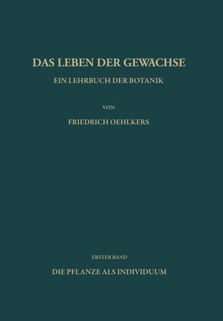 Ein Lehrbuch der Botanik | Oehlkers, 2013 | Buch (Cover)