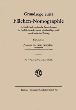 Abbildung von Schreiber | Grundzüge einer Flächen-Nomographie | 1921 | gegründet auf graphische Darst...