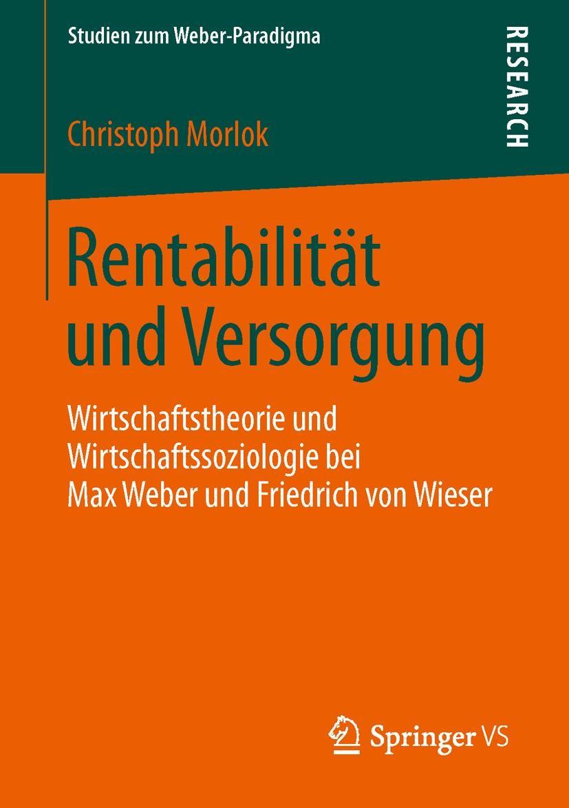 Rentabilität und Versorgung   Morlok, 2013   Buch (Cover)
